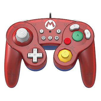 Hori Battle Pad GameCube Style Controller Mario For Nintendo Switch