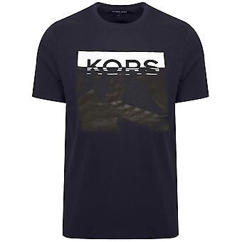 Michael Kors Michael Kors Navy trykt logo T-skjorte