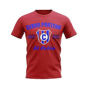 Cerro Porteno Established Football T-Shirt (Red)