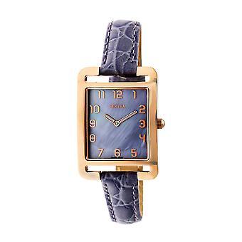 Bertha Marisol Swiss MOP Leather-Band Watch - Lavender