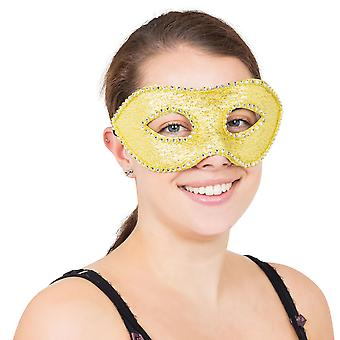 Bristol Novelty Unisex Adults Fake Jewel Ribbon Eyemask