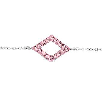 Rectangle - 925 Sterling Silver Bracelets de chaîne - W19257X