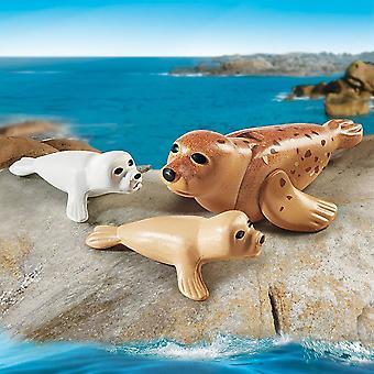 Playmobil-familie leuk zegel met Pups
