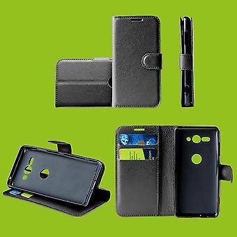 For Xiaomi Redmi note 8 Pocket lommebok Premium svart beskyttende etui deksel etui tilfelle nytt tilbehør