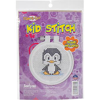Kid Stitch Penguin Mini Counted Cross Stitch Kit-3