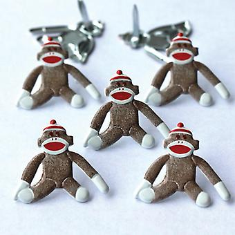 Eyelet Outlet Brads Sock Monkey Qbrd 62A