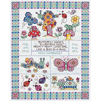 Bug In A Rug Birth Announcement Counted Cross Stitch Kit 9 3 4