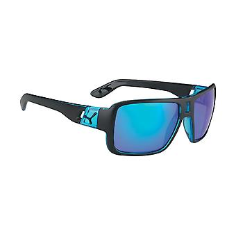 Cebe Look At Me Sunglasses(1500 Grey FM Blue Lens Matt Black Blue Frame)