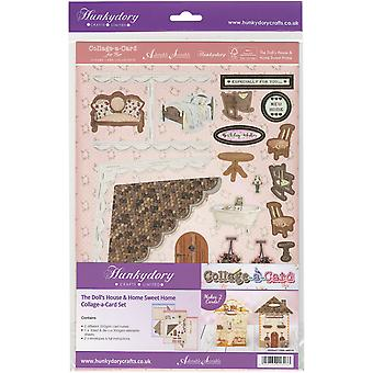 Hunkydory For Her A4 Collage-A-Card Luxury Card Set-The Doll's House & Home Sweet Home HER115