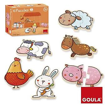 Goula 6 Puzzles Farm Carla (Toys , Preschool , Puzzles And Blocs)