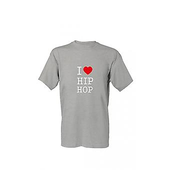 T-Shirt I love hip hop S-4XL