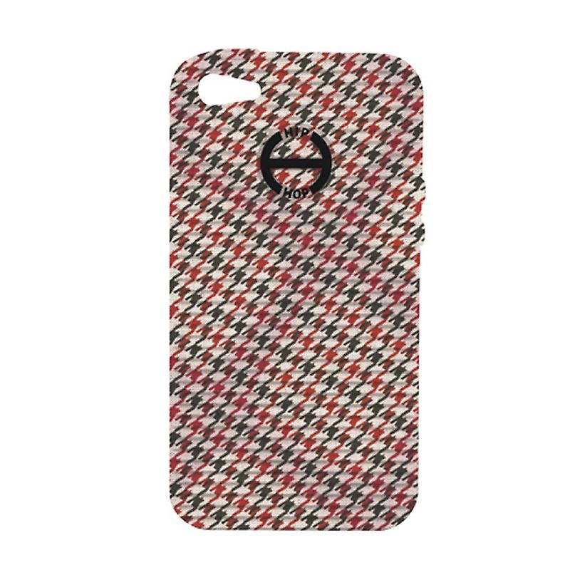 Hip Hop Cover Phone Case Iphone 4 / 4s Pied de Poule HCV0089 alors c'est rouge