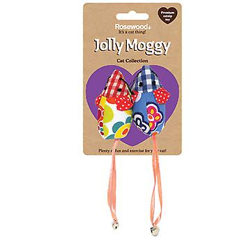 Jolly Moggy Patchwork Mice Duo (Pack of 3)
