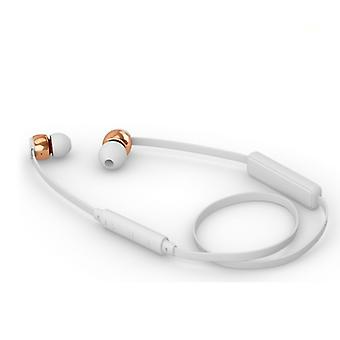 Sudio Vasa Blah Wireless In-Ear Headphones With Charger-White With Rose Gold Metal