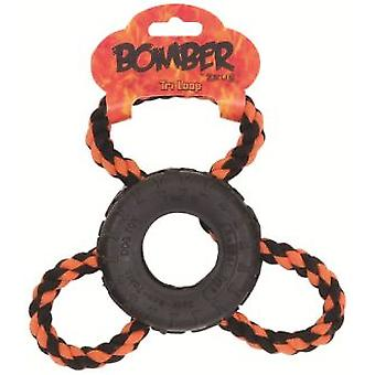 Bomber Tri Loop Rope Toy 18cm (Dogs , Toys & Sport , Chew Toys)