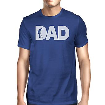 Dad Golf Mens Blue Cute Graphic Tee Unique Dad Gifts From Daughter