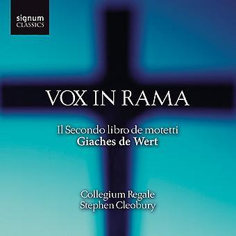 G. de Wert - Giaches De Wert: Vox i Rama - Il Secondo Libro De Motetti [CD] USA importerer