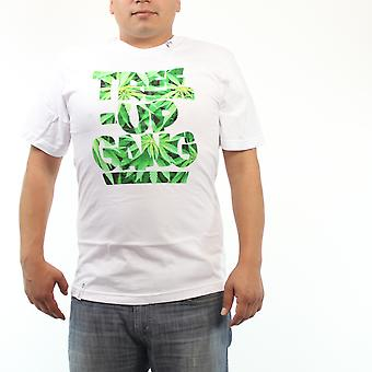 Lifted Research Group Tree Up Gang Herb Pattern Men's White T-shirt