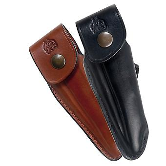 Shaped leather sheath for Laguiole - Color - Black Direct from France