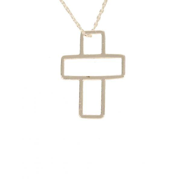 W.A.T Open Cross Pendant Necklace