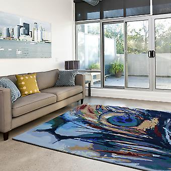 Pavo real pintura multicolor alfombras