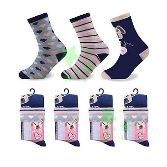 Dog Love Heart ladies women Fashion Socks 4-6 Size 12 Pairs