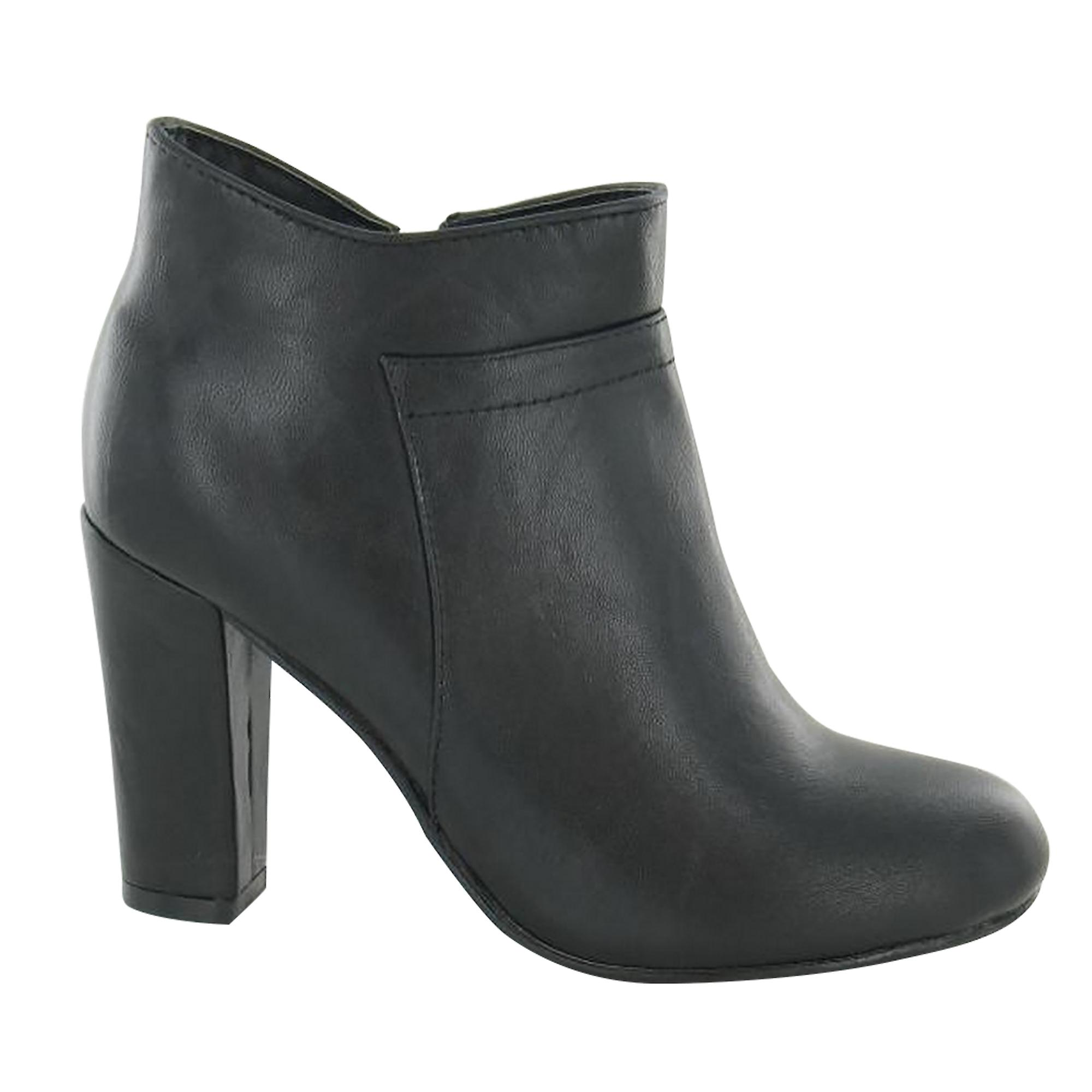Spot On Womens/Ladies Zip Up Heeled Ankle Boots