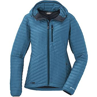 Outdoor Research Womens Verismo Hooded Down Jacket Oasis (UK Size 12)