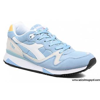 Diadora V7000 Nyl Ii Mens Blue Suede & Mesh Athletic Lace Up Training Shoes