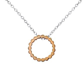 Circle - 925 Sterling Silver Plain Necklaces - W30226x
