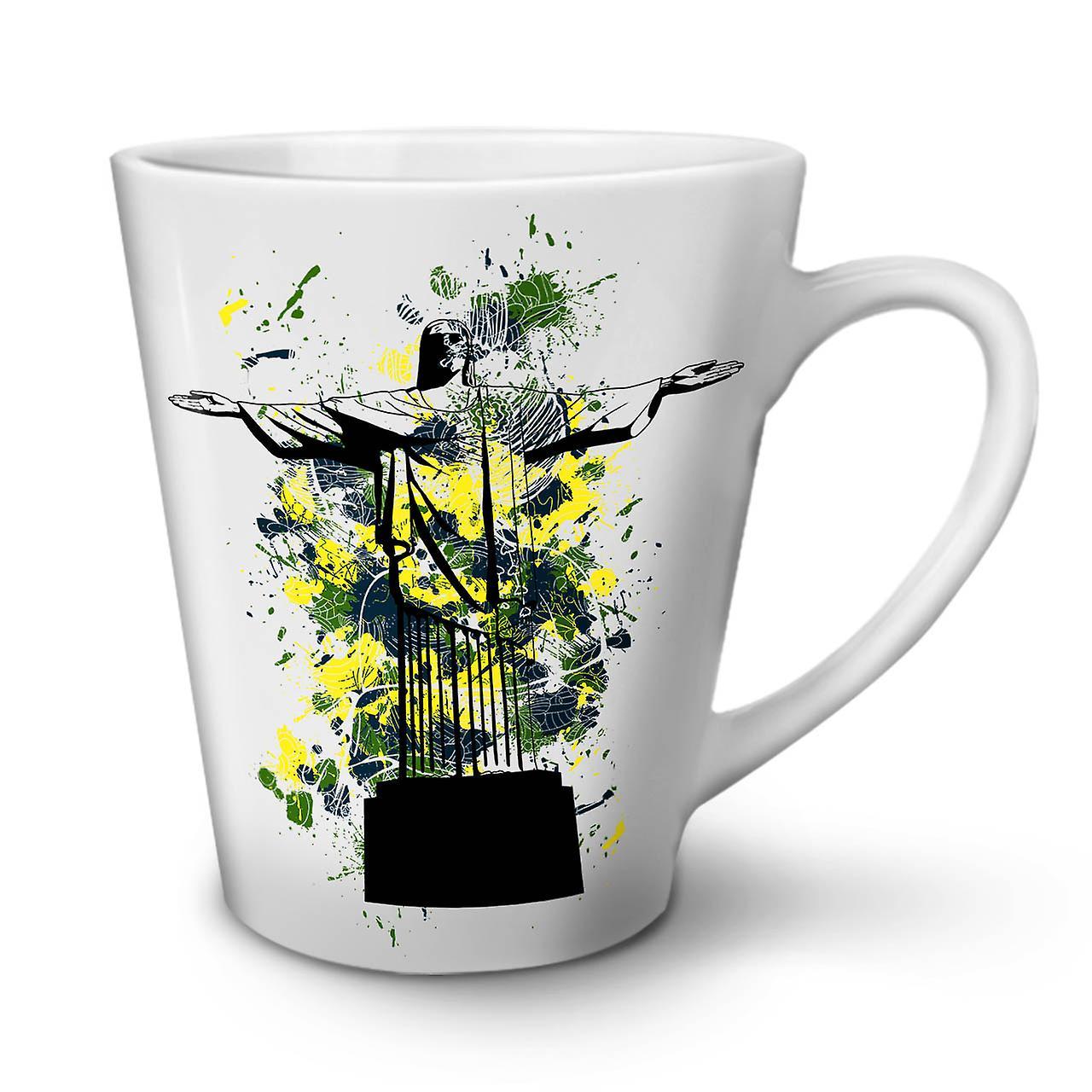 Christ Redeemer Brazil NEW White Tea Coffee Ceramic Latte Mug 12 oz   Wellcoda