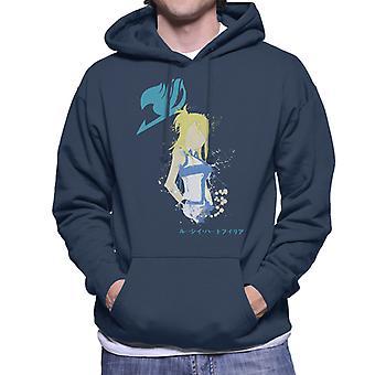 Fairy Tail Lucy Splatter Silhouette Men's Hooded Sweatshirt
