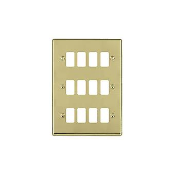Hamilton Litestat Hartland poliert Messing 12g Apert Gridfix Platte + Netz