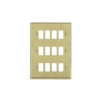 Hamilton Litestat Hartland Polished Brass 12g Apert Gridfix Plate+Grid