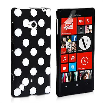 Yousave Accessories Nokia Lumia 720 Polka Dot Hard Case - Black