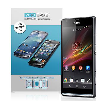 Yousave Sony Xperia SP Screen Protectors Clarivue Schermbeveiligers - 3-Pack