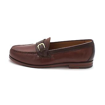 Cole Haan Mens Pinch Classic-New Buckle Leather Closed Toe Penny Loafer