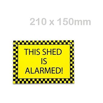 Solon This Shed Is Alarmed Sign (210 X 150mm)