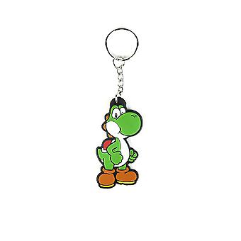 Nintendo Keyring Keychain Yoshi Super Mario Official New Rubber