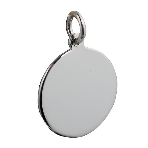 Silver 20mm round plain Disc