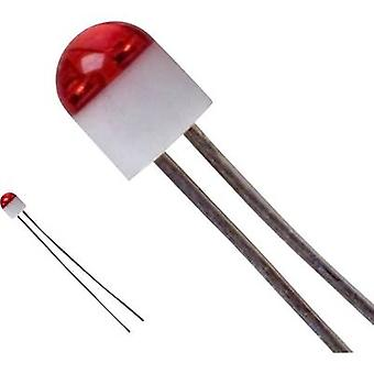 LED wired Red Circular 2 mm 6 mcd 160 °