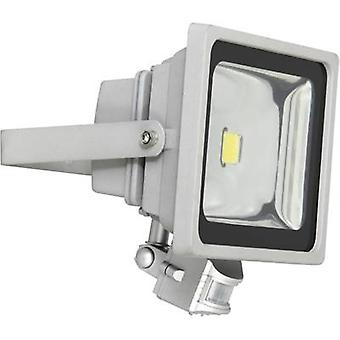 XQ lite XQ-Lite XQ1224 LED outdoor floodlight (+ motion detector) 30 W Daylight white Grey
