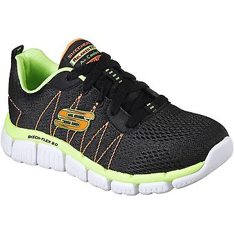 Skechers Boys Skech-Flex 2.0 Quick Pick Lace Up Durable Trainers Shoes