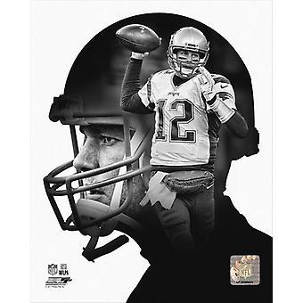 Tom Brady profil Photo Print