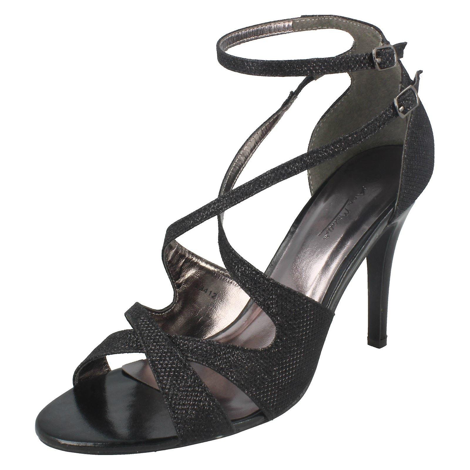 Michelle Sandal Glitter Heel High Anne Ladies xw85aRqAYn