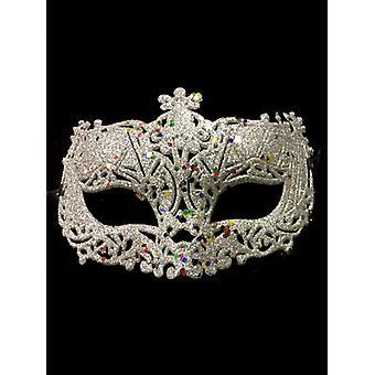 Maschera per occhi Glitter argento