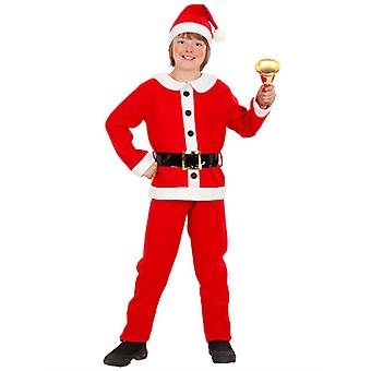Flannel Santa Boy (Jacket Pants Belt Hat) Childrens