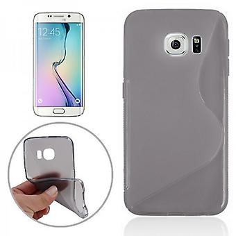 Silikonhülle S-Line Grau für Samsung Galaxy S6 Edge G925 G925F