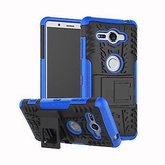 Hybrid case 2 piece SWL robot blue Sony xperia XZ2 compact bag case cover protection