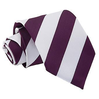 Paarse & wit gestreepte klassieke Tie